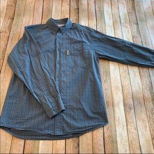 Columbia plaid casual button down shirt
